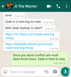 JT Warrior who recently confirmed his relationship status with Beatrice explains how hip hop is safe with rapper Zeek