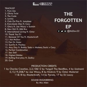 McDow – The Forgotten EP
