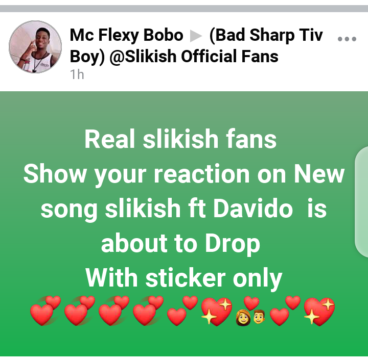 Fans go wild about Slikish and Davido incoming song, request Davido to speak tiv