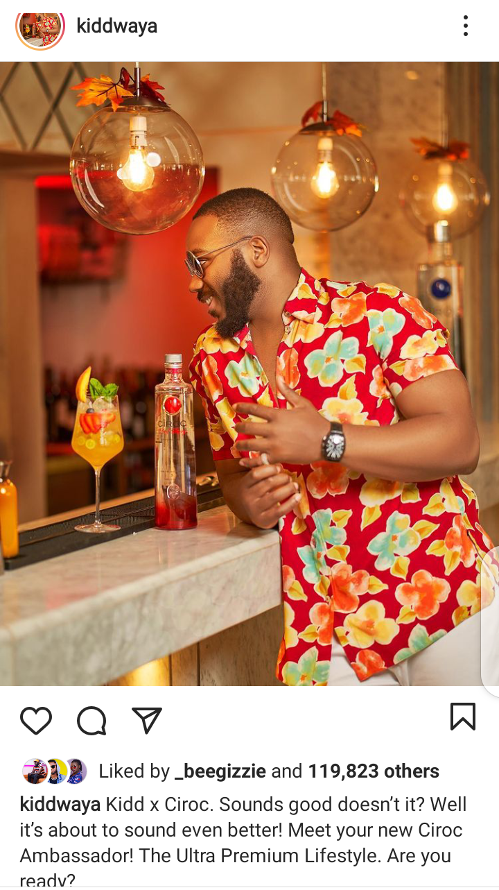 Kidd Waya bags new endorsement deal with Ciroc which is a brand to reckon with