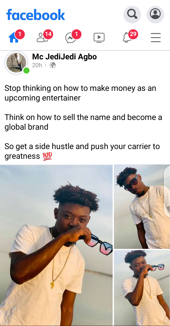 Stop thinking on how to make money as an upcoming entertainer - Mc Jedi Jedi