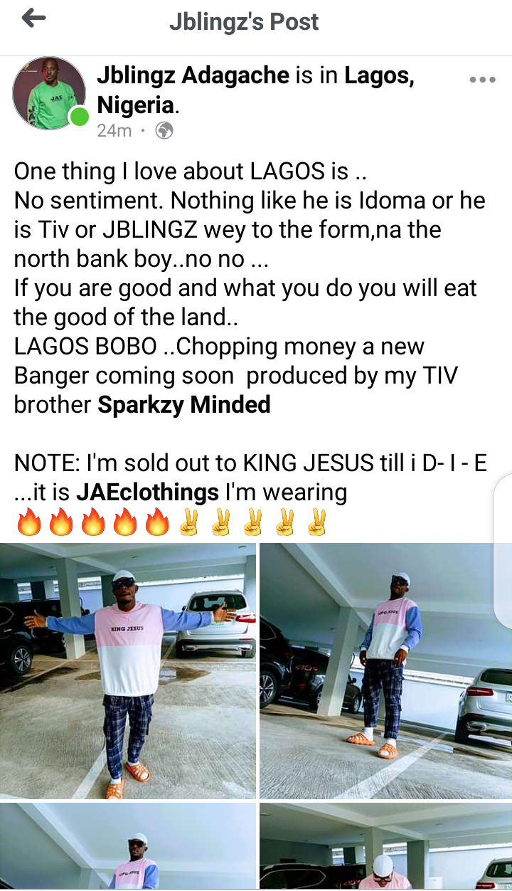 One thing I like about Lagos – Jblingz