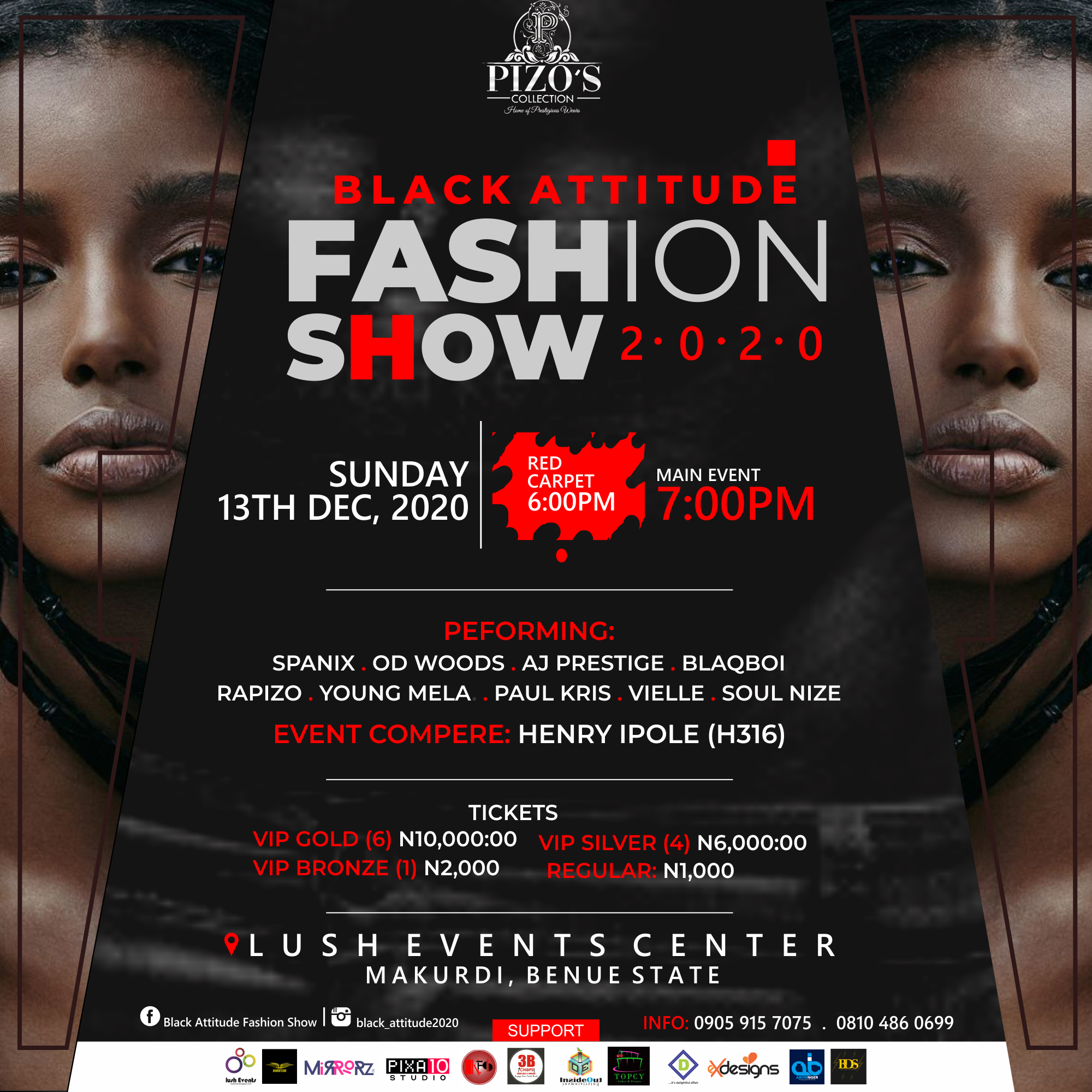 A DECEMBER FASHION EXPERIENCE FROM THE STABLES OF PIZOS COLLECTIONS COMES THE BLACK ATTITUDE FASHION SHOW