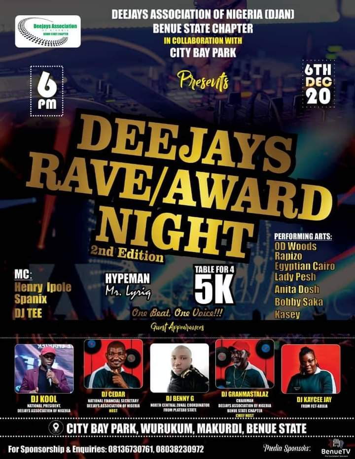 Deejays Rave/Award Night 2nd Edition