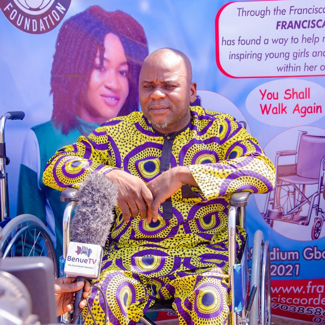 FRANCISCA ORDEGA FOUNDATION DONATES WHEELCHAIRS TO PEOPLE WITH PHYSICAL DISABILITIES BY Joseph Tsum