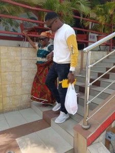 Patrick from Benue state specially celebrates mum on Valentine day