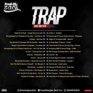 """Fresh DJ Zack comes through with """"Trap Cruz Mixtape Vol.2""""  Fresh DJ Zack popularly known as the crowd Controller has mastered the skills as a"""