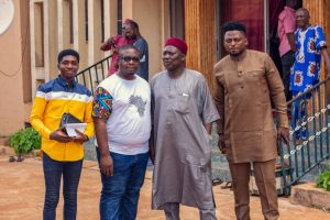 Made In Benue Team Members paid a courtesy visit to His Royal Majesty Agabaidu Elias Ikoyi Obekpa Ochi Idoma IV