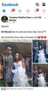 Od Woods na me and you been dey marry - ChaCha